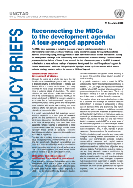 UNCTAD N° 14, June 2010 Towards more inclusive development strategies