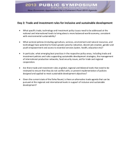 Day 2: Trade and investment rules for inclusive and sustainable...