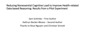 Reducing Nonessential Cognitive Load to Improve Health-related