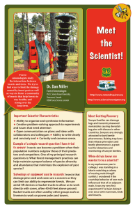 Meet the Scientist! Dr. Dan Miller