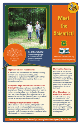Meet the Scientist! Dr. John Schelhas