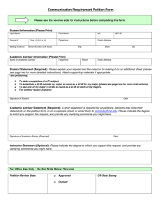 Communication Requirement Petition Form