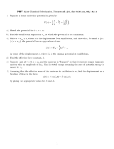 PHY 3221 Classical Mechanics, Homework #6, due 8:30 am, 03/19/12 1 (