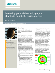 Detecting potential security gaps – thanks to holistic Security Analysis