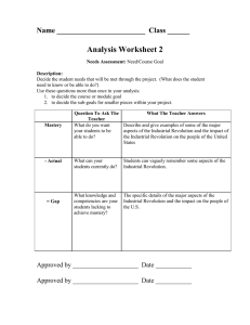 Analysis Worksheet 2 Name ________________________  Class ______