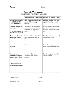 Analysis Worksheet 4 Name ________________________  Class ______