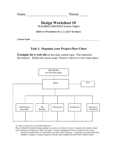 Design Worksheet 10 Name ________________________  Period______ Task 1: