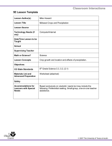 Classroom Interactions 5E Lesson Template