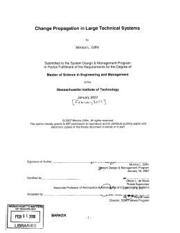 Change  Propagation  in Large  Technical  Systems &
