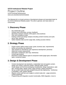 Project Outline UCCS Institutional Website Project