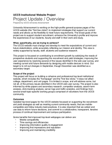 Project Update / Overview UCCS Institutional Website Project