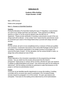 Addendum #1 Academic Office Building Project Number: 13-006