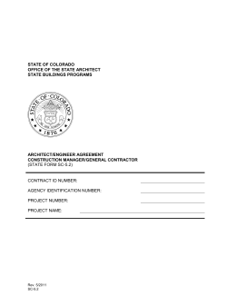 (STATE FORM SC-5.2) CONTRACT ID NUMBER: AGENCY IDENTIFICATION NUMBER: