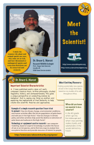 Meet the Scientist! Dr. Bruce G. Marcot