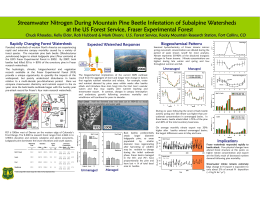 Streamwater Nitrogen During Mountain Pine Beetle Infestation of Subalpine Watersheds