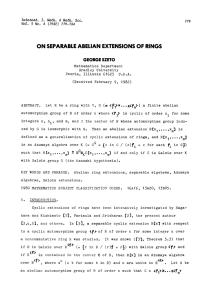 ON SEPARABLE ABELIAN EXTENSIONS OF RINGS (1>x...Xm)