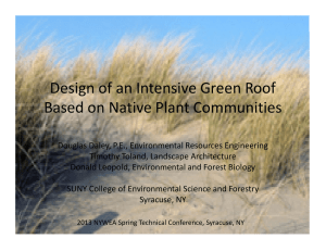 Design of an Intensive Green Roof  Based on Native Plant Communities