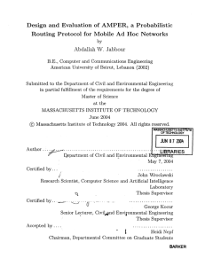 Design  and  Evaluation  of  AMPER, ... Routing  Protocol  for  Mobile  Ad ...