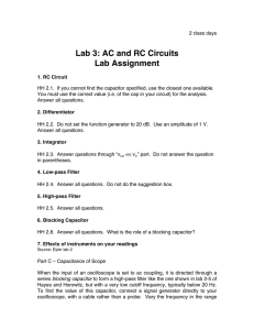 Lab 3: AC and RC Circuits Lab Assignment