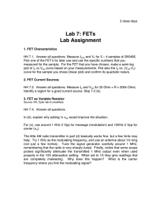 Lab 7: FETs Lab Assignment