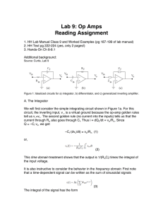 Lab 9: Op Amps Reading Assignment