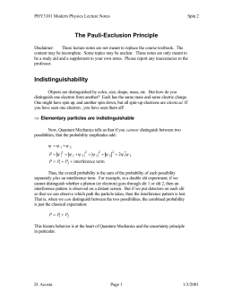 The Pauli-Exclusion Principle