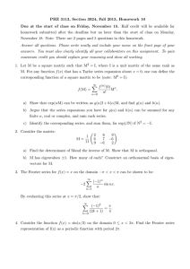 PHZ 3113, Section 3924, Fall 2013, Homework 10