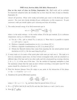 PHZ 3113, Section 3924, Fall 2013, Homework 3