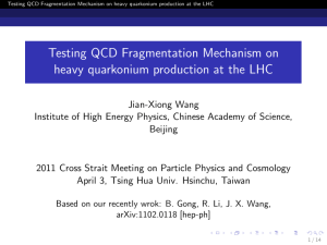 Testing QCD Fragmentation Mechanism on heavy quarkonium production at the LHC