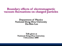 Boundary effects of  electromagnetic vacuum fluctuations on charged particles