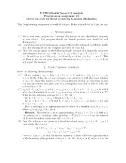 MATH 609-600 Numerical Analysis Programming assignment #1
