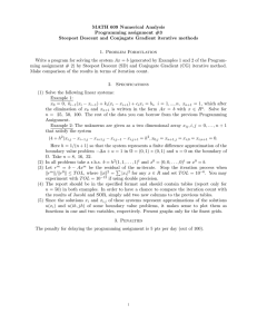 MATH 609 Numerical Analysis Programming assignment #3