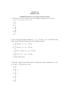 MATH 152 SPRING 2016 SAMPLE EXAM I (covering sections 6.4-8.2)