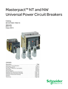 Masterpact™ NT and NW Universal Power Circuit Breakers 2015 Catalog