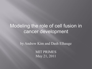 Modeling the role of cell fusion in cancer development MIT PRIMES