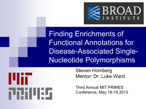 Finding Enrichments of Functional Annotations for Disease-Associated Single- Nucleotide Polymorphisms