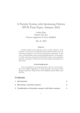 A Particle System with Interlacing Pattern SPUR Final Paper, Summer 2013
