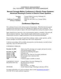 Second Carnegie Mellon Conference in Electric Power Systems: