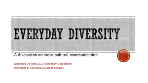 A discussion on cross-cultural communication University of Colorado, Colorado Springs