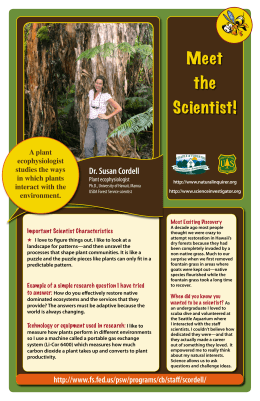 Meet the Scientist! Dr. Susan Cordell