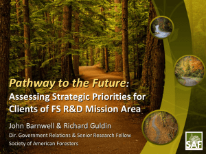 Pathway to the Future : Assessing Strategic Priorities for