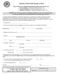 APPLICATION FOR GRADUATION