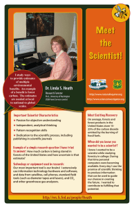 Meet the Scientist! Dr. Linda S. Heath