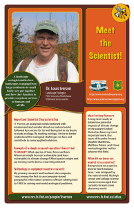 Meet the Scientist! Dr. Louis Iverson