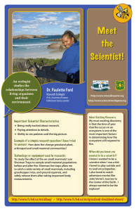 Meet the Scientist! Dr. Paulette Ford