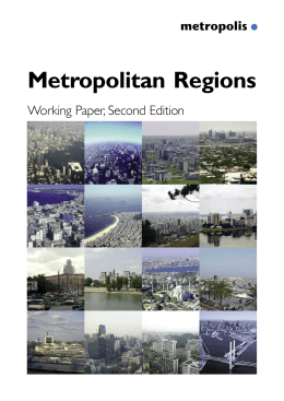 Metropolitan Regions Working Paper, Second Edition