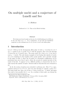 On multiple nuclei and a conjecture of Lunelli and Sce 1 Introduction
