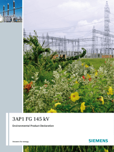 3AP1 FG 145 kV Environmental Product Declaration Answers for energy. 1