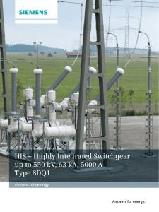 Gas-insulated switchgear up to 245 kV, 50 kA, 4000 A Type 8DN9