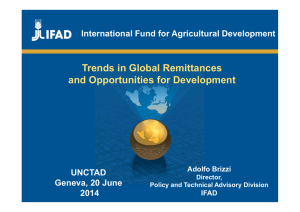 Trends in Global Remittances and Opportunities for Development UNCTAD